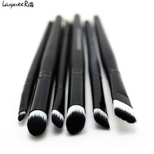 6 PCS Brand Professional Makeup Brushes Makeup Cosmetics Brushes Eye Shadows Eyeliner Nose Smudge Brush Tool