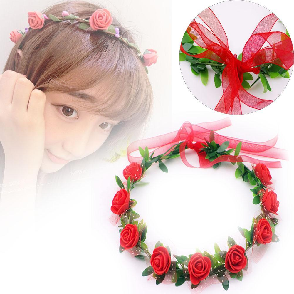 Buy red flower crown and get free shipping on aliexpress izmirmasajfo Images