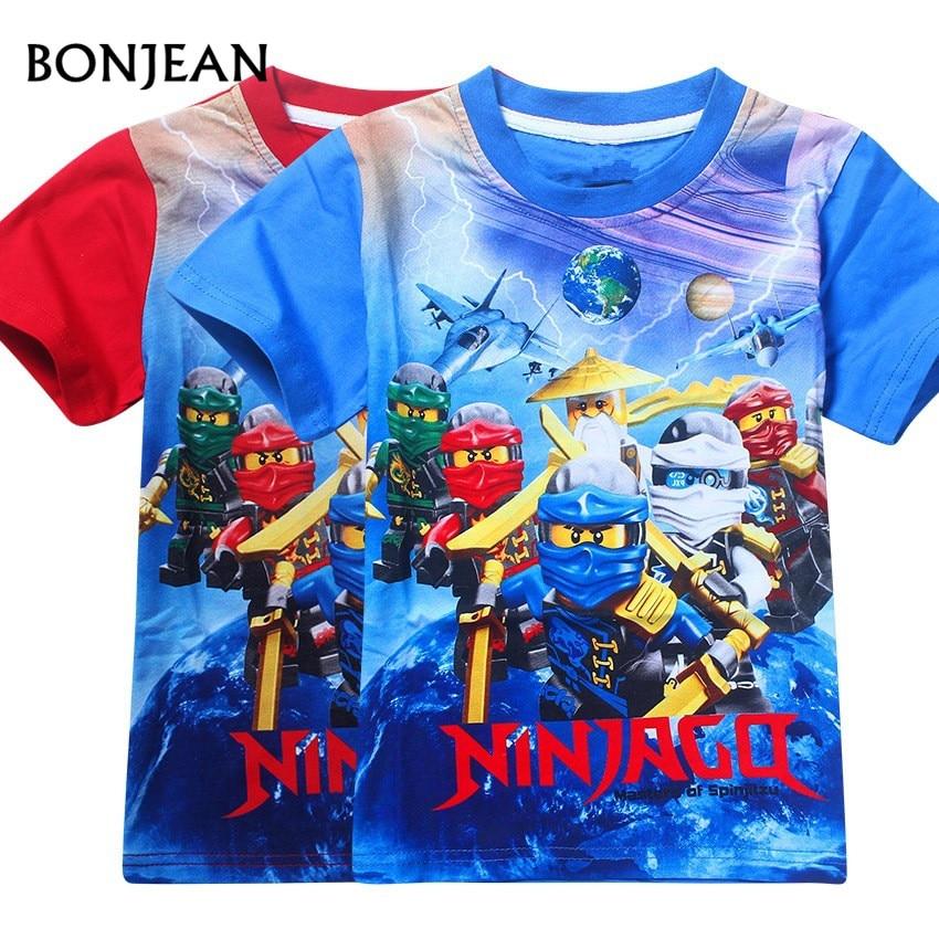 Hot sales Summer Children's Clothing Kids Baby Girls T-Shirts Ninja Ninjago Cotton Cartoon T-Shirt Kids t-shirts 3-8y