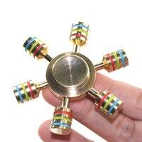 Mini Luminous Brass Finger Spinner Spinning Top Novelty Toys
