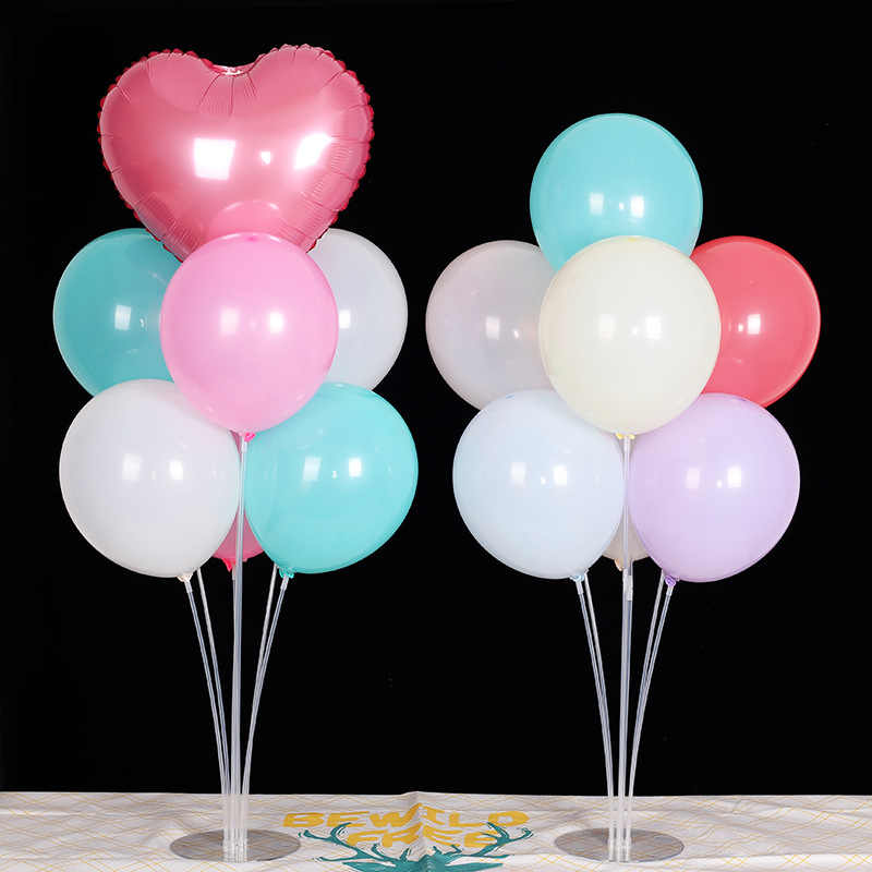 7 Tubes Balloons Holder Set Accessories Latex Foil Balloon Display Stand Column Balloons Sticks Birthday Wedding Party Supplies