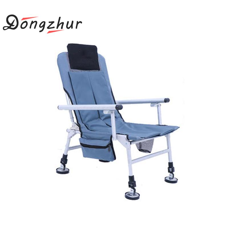 Dongzhur Fishing Chair Outdoor Ultimate Fishing Chair Camping Folding Chair Leisure Fishing Stool for Relaxed Fishing multi functional fishing chair massage chair outdoor folding fishing chair aluminum alloy fishing stool manufacturers wholesale