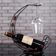 Kingart Iron Wine RackHandmade Plating Wine Racks Home Kitchen Bar Accessories Practical Wine Holder Wine Bottles Decor Display