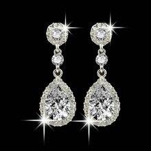 Jóias de casamento Strass Brincos de Casamento Para As Mulheres vitage Estilo reto ladies bohemian Longo de jóias de ouro da moda coreana F80