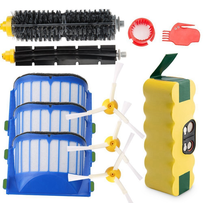 3500Mah Ni-Mh Replacement Roomba Battery + Replacement Accessory Part Kit- A Set Of 113500Mah Ni-Mh Replacement Roomba Battery + Replacement Accessory Part Kit- A Set Of 11