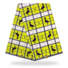 Yellow birds design african print clothing patchwork fabric veritable wax 6 yards whole YBGHL-351