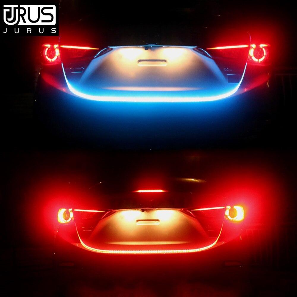 JURUS Car Styling Turn Signal Amber Flow Car Led Strip RGB