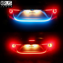 JURUS Car-Styling Turn Signal Amber Flow Car Led Strip RGB Trunk Tail Light Ice Blue DRL Daytime Running Light RED Brake Lights