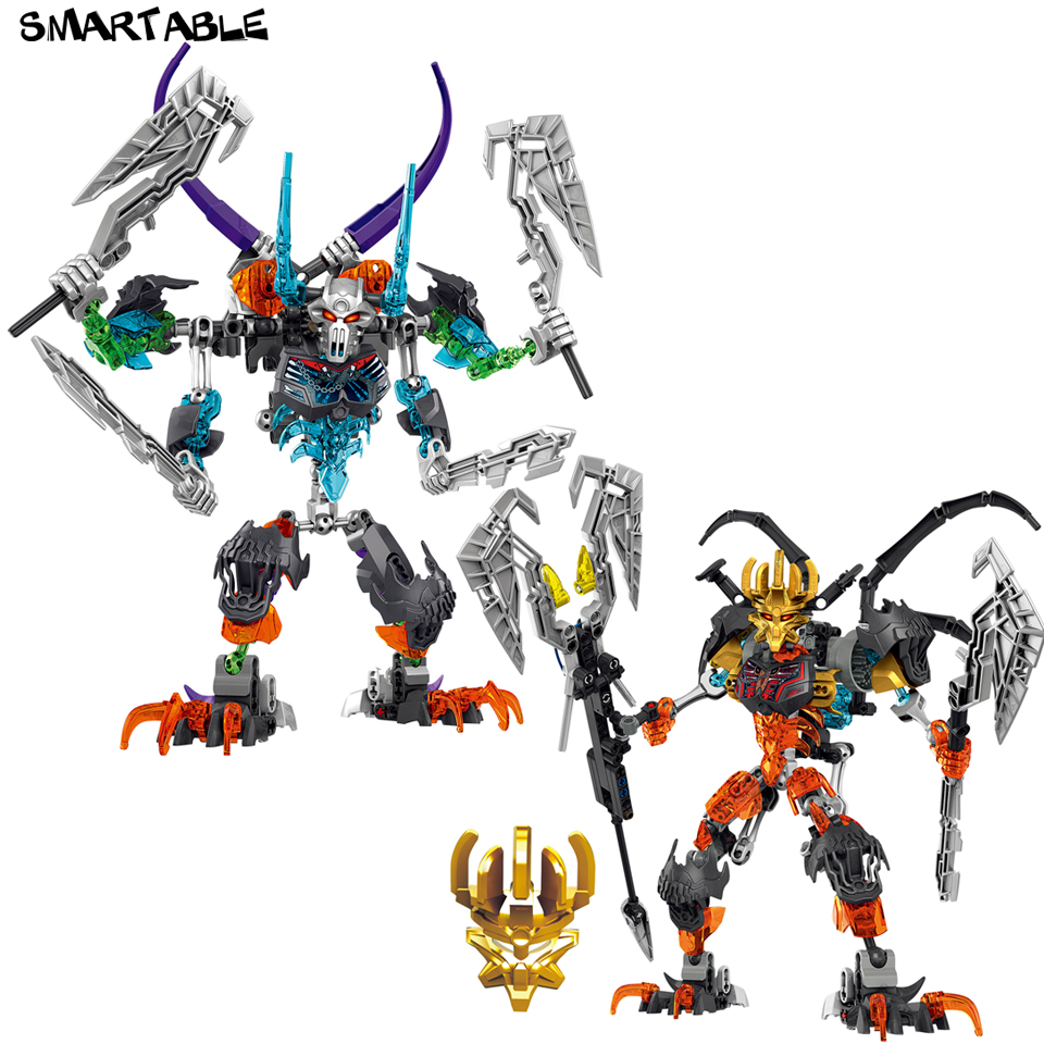 Smartable BIONICLE Skeleton Mask King Warrior Figures Building Block Toys For Boy Compatible All Brand BIONICLE