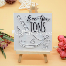 CS1082 Scrapbook DIY Photo Album Cards Transparent Acrylic Silicone Rubber Clear Stamps Sheet  10X10CM  Love You Tons
