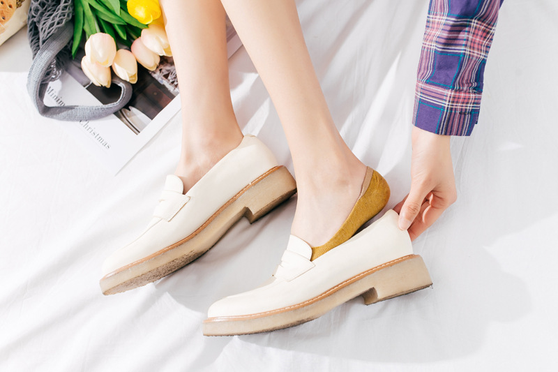 10 pieces = 5 pairs Spring summer women socks Solid color fashion wild shallow mouth invisible socks felmen slipper socks