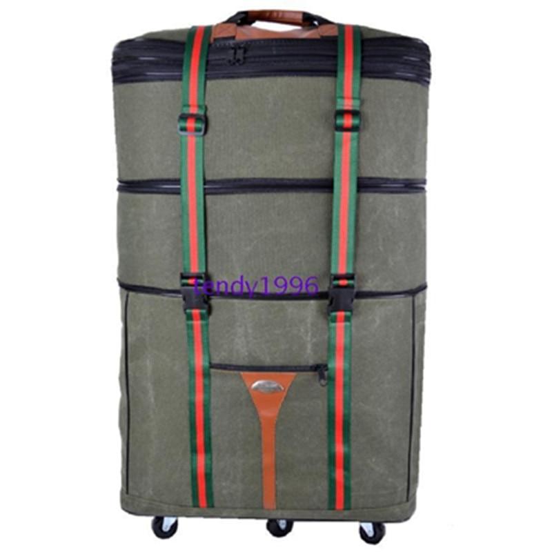 """حقيبة سفر قماشية خفيفة للغاية ، وحقائب أمتعة ذات عجلات كبيرة ذات سعة نقل كبيرة ، وحقائب 34 """"42"""" على عجلات عالمية 6 لنقل الحركة"""