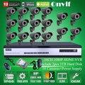 Sistema de Seguridad de Vídeo 16CH H.264 NVR Onvif 2.0 1080 P Full HD Lente Varifocal 2.8-12mm IR Al Aire Libre Cámara de Red IP Envío 6 TB HDD