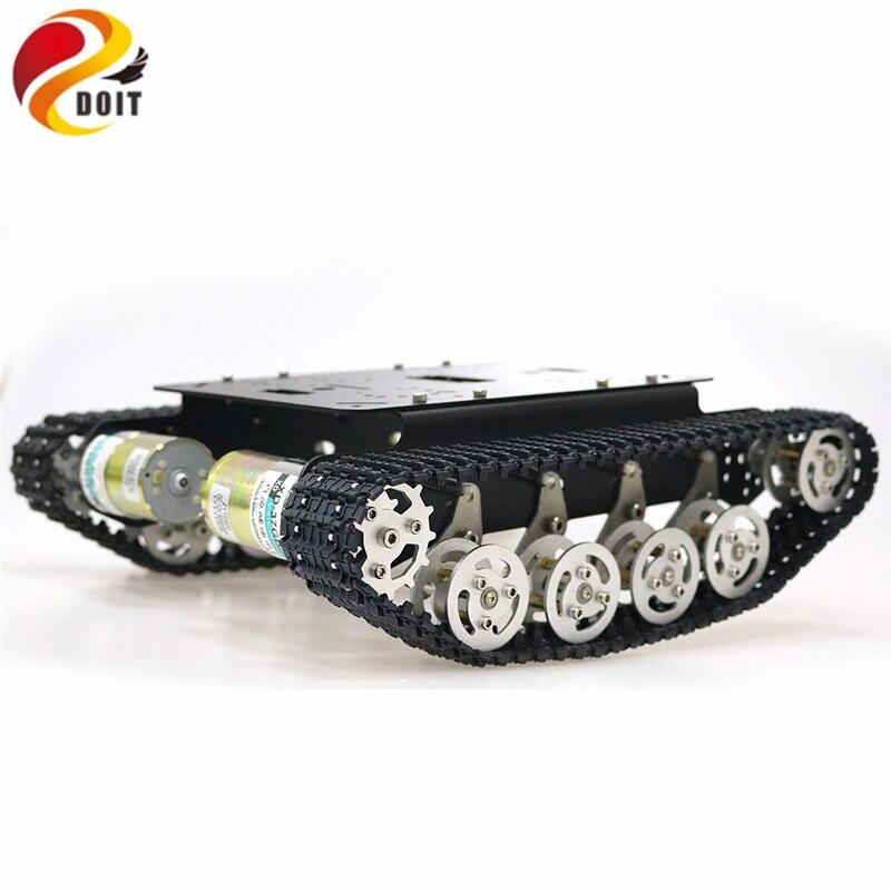 TS100 Ammortizzatore Metallo Robot Serbatoio Car Kit Telaio per Arduino uno r3 raspberry seguito crawler caterpillar sistema di sospensione-in Carri armati radiocomandati da Giocattoli e hobby su  Gruppo 1