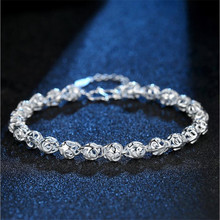 TJP Trendy Hollow Balls Female Bracelets Jewelry Girl Latest 925 Sterling Silver For Women Birthday Party Accessories