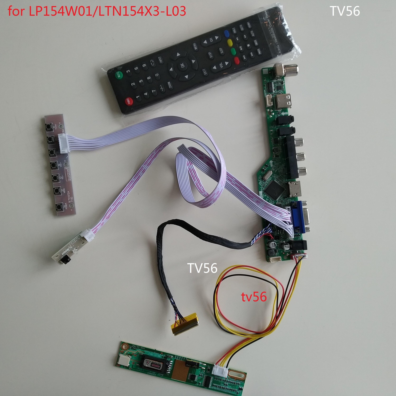 """Kit for 15.4/"""" LTN154X3-L03 1280X800 HDMI+DVI+VGA LCD Controller Board Driver"""