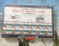 Free Shipping 1 Set Flower Head AB 619PCFLG Push Type Crown for Watch Repair