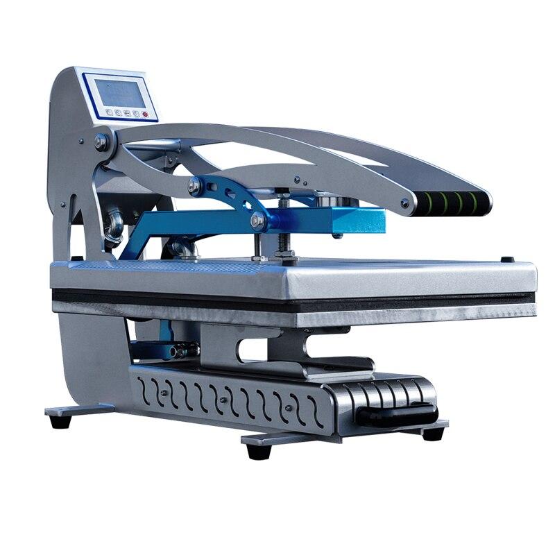 Nouvelle Machine automatique de presse à chaud de Sublimation de T-shirt à plat ouvert automatique pour le tapis de souris, Machine de presse à chaud pour des T-shirts 40*40 cm