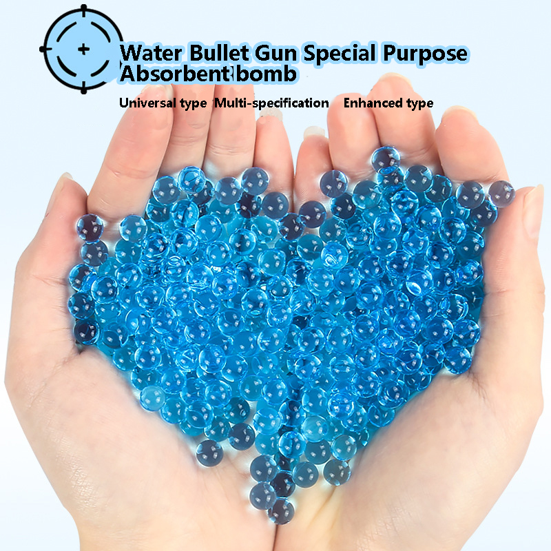 Children's Toy Gun Water Gun Crystal Bomb Water Bomb 10000 Tablets Water-Absorbing Elastic Water Beads 6-7-8-9-11-13mm