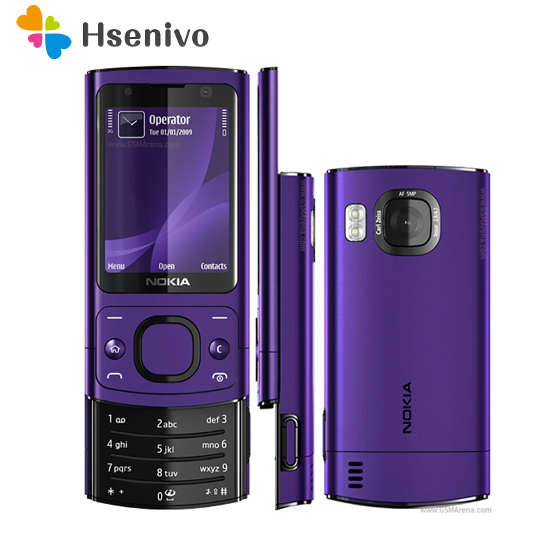 6700S Original Unlocked Nokia 6700S mobile phone Bluetooth FM JAVA 5MP 3G 6700 Slider cell phone