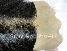 Pelle sottile iniettata uomini toupee colore 1b formato 8x10 pollici degli uomini parrucca/sostituzione, sistema, peruca trasporto libero