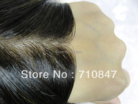 Thin skin injected men toupee color 1b size 8x10inch men wig /replacement , system , Peruca free shipping