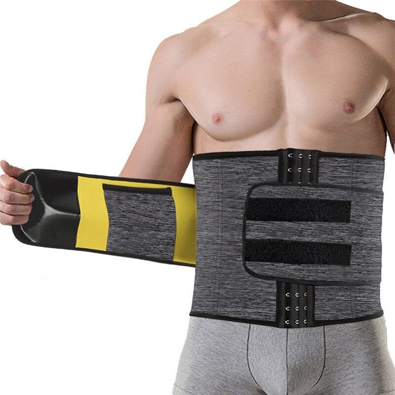 NINGMI Males Modeling Belt Slimming Waist Trainer Mens Body Shaper Corset Neoprene Shapers Tummy Trimmer Shapewear Cincher Strap