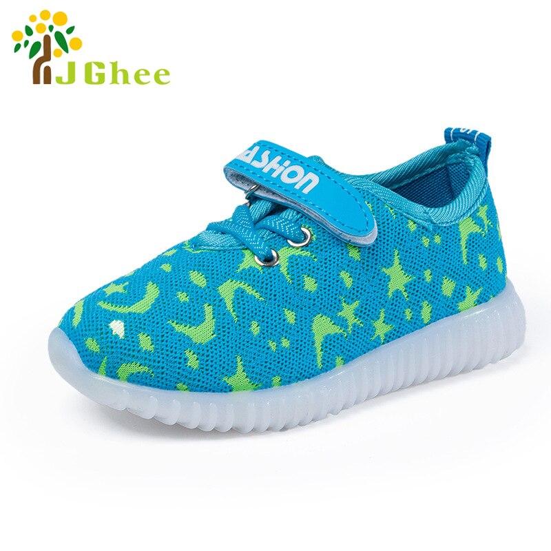 Діти Нові Модні Дитяче Взуття З Підсвічуванням Взуття Світні Світиться Кросівки Малюк Дитячі Малюки Дівчата Взуття Світло М'які тканини  t
