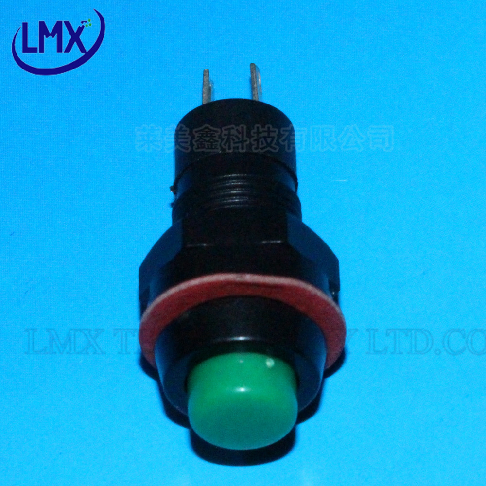 20PCS/LOT DS 211 lockless Green Round Push Button Switch SPST OFF ...