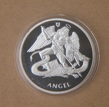 ST MICHAEL PATRON SAINT COIN Gift Silver Plated Challenge Coin Excellent Collection Antique Coin