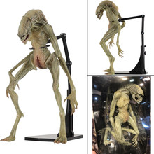 7 polegada 18cm Original NECA Aliens Vs Predator Figura Alien Resurrection Delune Recém-nascidos Action Figure Modelo Toy Boneca(China)