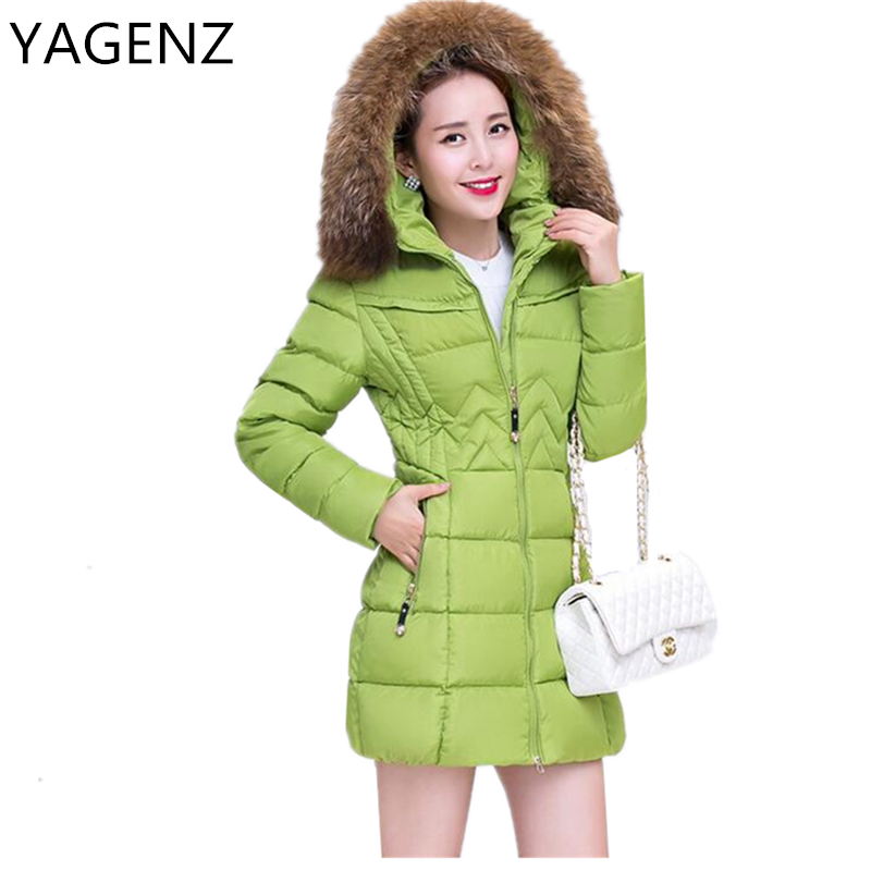 2017 Fur Collar Parka Winter Women Jacket Coat Fashion Slim Down Female Warm Hooded Jacket Plus Size Casual Cotton Outerwear 4xl