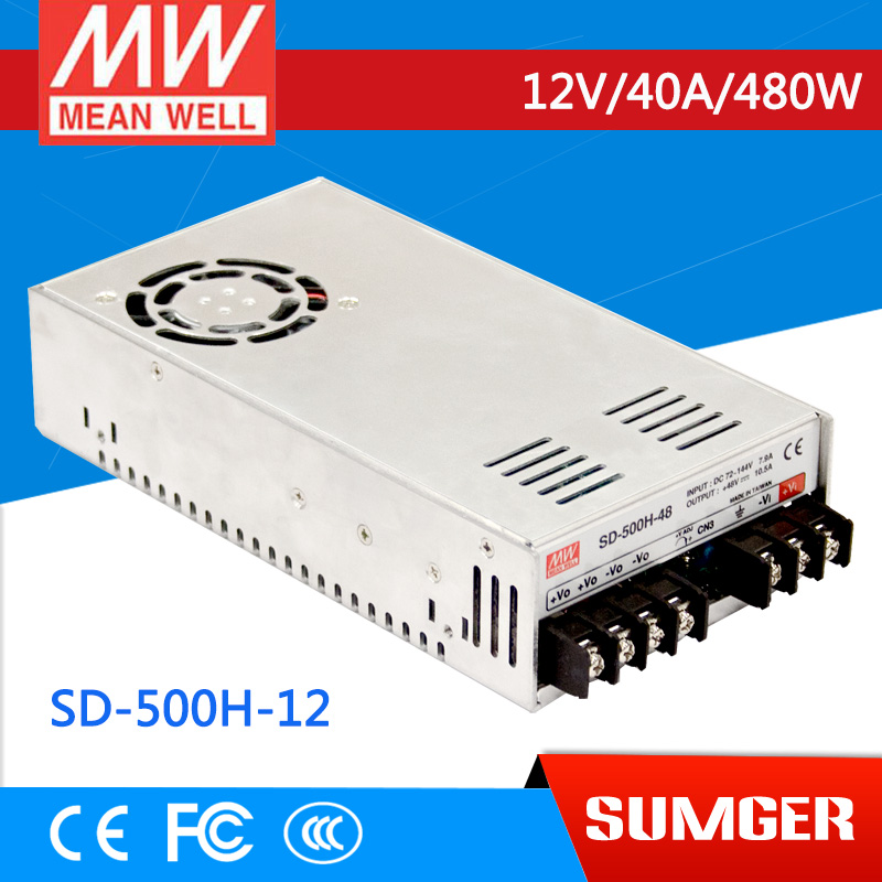 [Sumger2] MEAN WELL original SD-500H-12 12V 40A meanwell SD-500 12V 480W Single Output DC-DC Converter [powernex] mean well original sd 500l 12 12v 40a meanwell sd 500 12v 480w single output dc dc converter