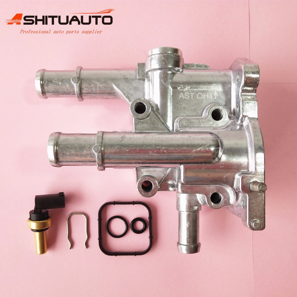 AshituAuto Aluminum Engine Cooling Thermostat Housing Cover Sensor For Chevrolet Cruze Epica Opel Astra Vectra 96984103 96817255