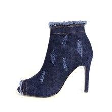 82f7f320ef Jean High Heels Blue Promotion-Shop for Promotional Jean High Heels ...