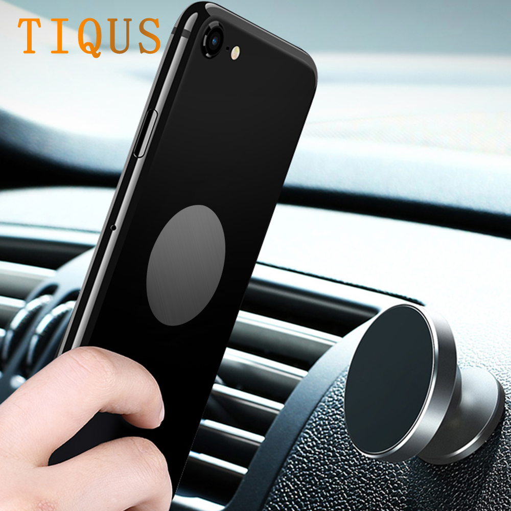 TIQUS 5Pcs 35mm Metal Plate Kit Universal Replacement Iron Sheets with Adhesive for Magnetic Car Mount Silver