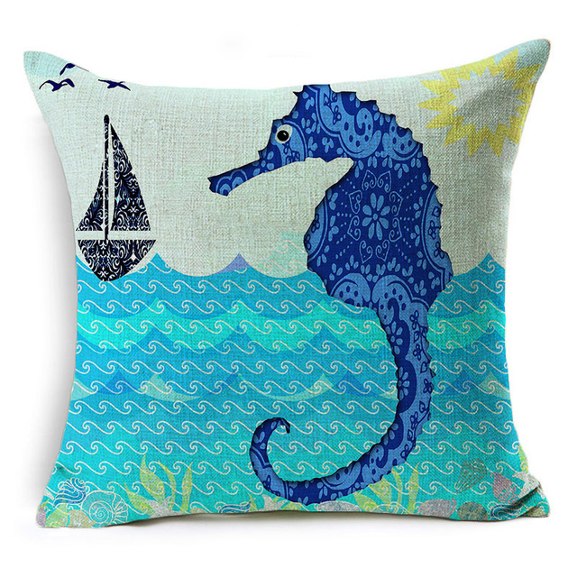 Deep Blue Ocean Pillows 2