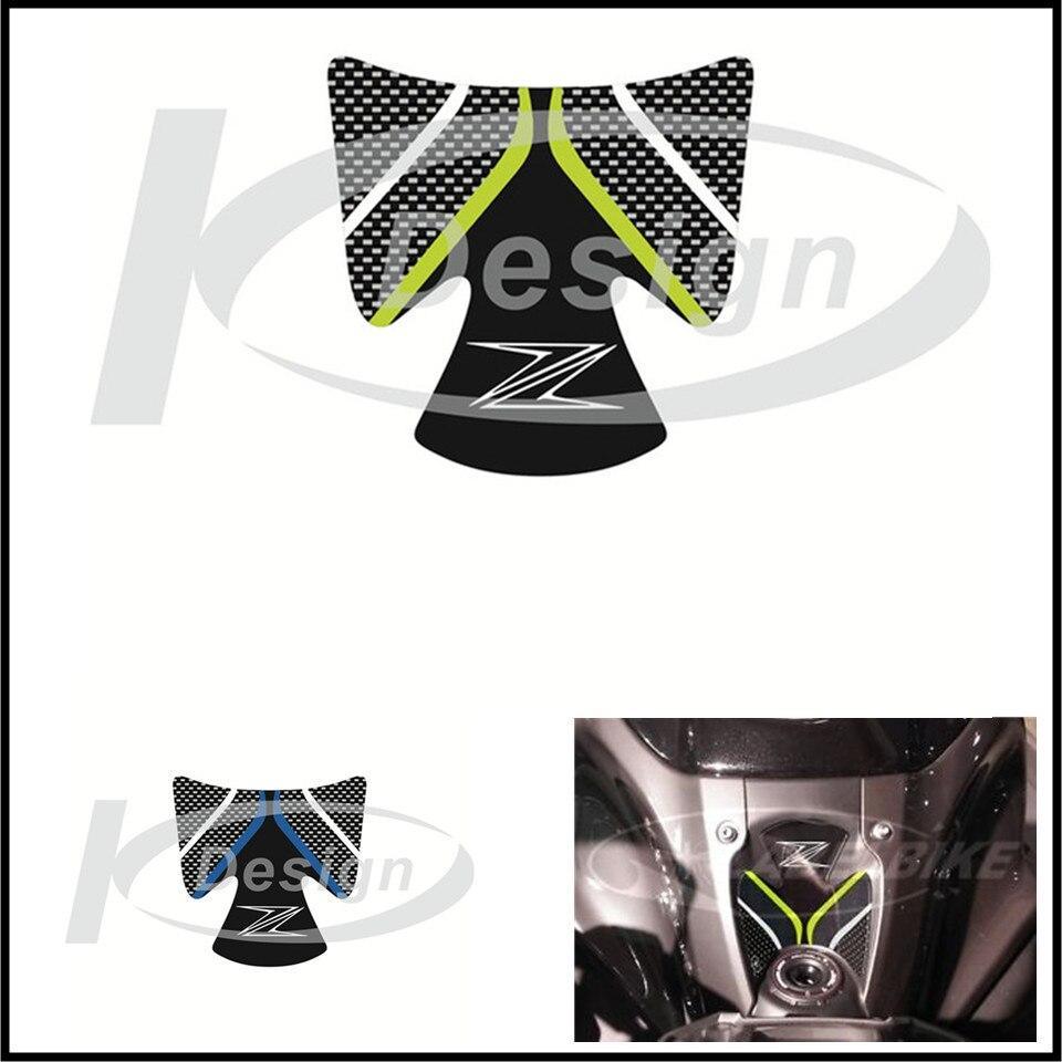 Carbon 3D ADESIVI Sticker Decal Emblem Protection Tank Pad Gas Cap Fit  For  KAWASAKI Z900 Z 900 2017 2 Color