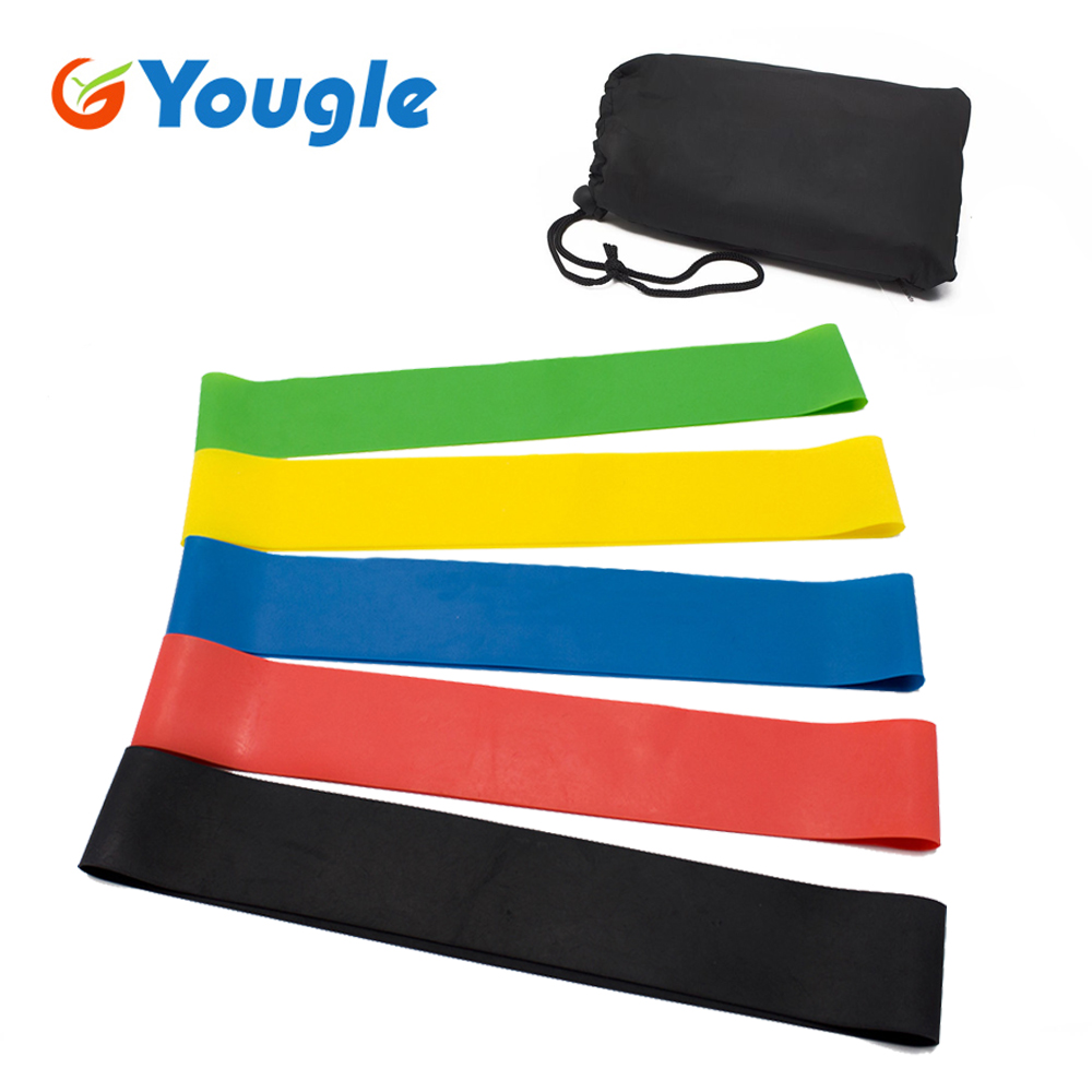 5 Pcs/Set Resistance Band Levels Elastic Latex Gym Strength Training Rubber Yoga Loops Workout Fitness Equipment