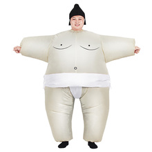 Adult Inflatable Sumo Costume Halloween Costumes for Women Wrestler Suit Fan Operated Men