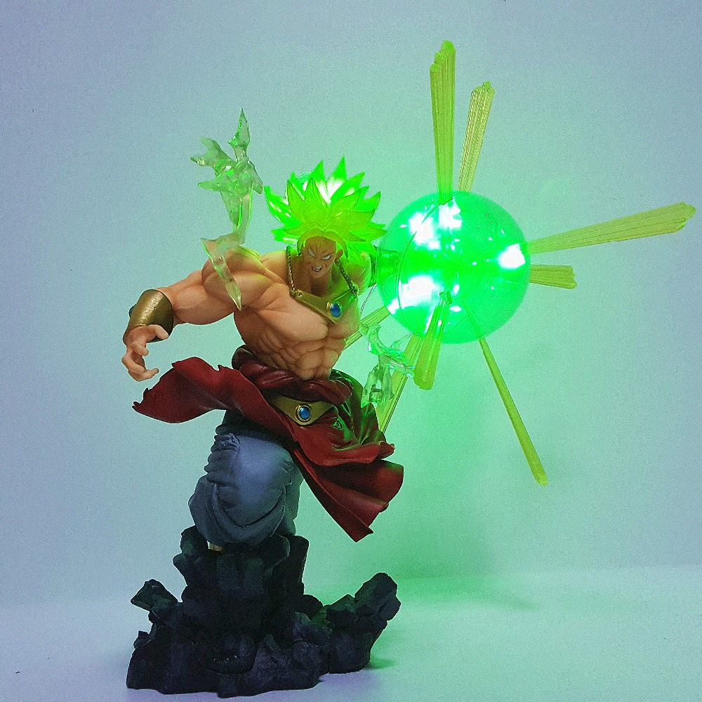 Dragon Ball Z Action Figure Broly Super Saiyan Led Power Toys F.ZERO Dragon Ball Super Broly Statue Figurine Collectible Model