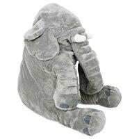 52 سنتيمتر kawaii الفيل القطيفة دمى لينة العملاق الفيل حيوان كبير النوم وسادة وسادة أطفال اللعب هادئة d25