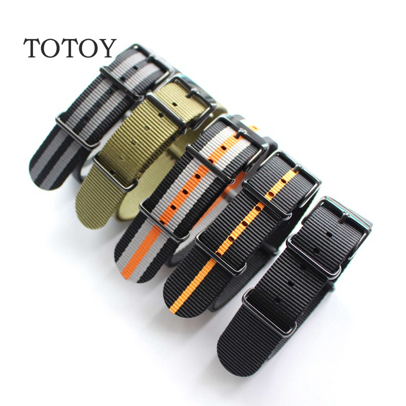 TOTOY Personalized Design NATO Nylon Watchbands 18MM 20MM 22MM 24MM NATO Outdoor Military Watch Strap, Fast Delivery