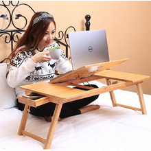 250624/Dormitory desk college student foldable lazy bedroom laptop computer desk queen bed with small table