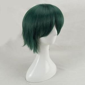 Image 5 - HAIRJOY włosy syntetyczne człowiek mięta zielona warstwowa krótka prosta męska peruka do Cosplay darmowa wysyłka 5 kolorów dostępne