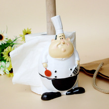 Super adorable cartoon chef limited promotional towel rack Home Furnishing office desktop and resin craft ornaments