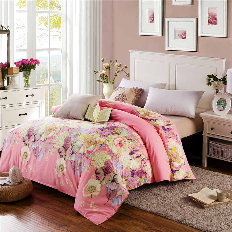Modern Style Red Print 100% Cotton Thickening Adult Bedding 1Pcs 200X230CM Size Duvet Cover Quilts Comforter Case Quilt Cover