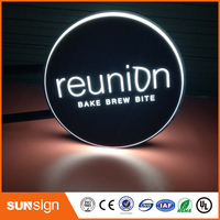 Custom Acrylic Led Light Box Letter Outdoor Light Boxes On Shop Wall