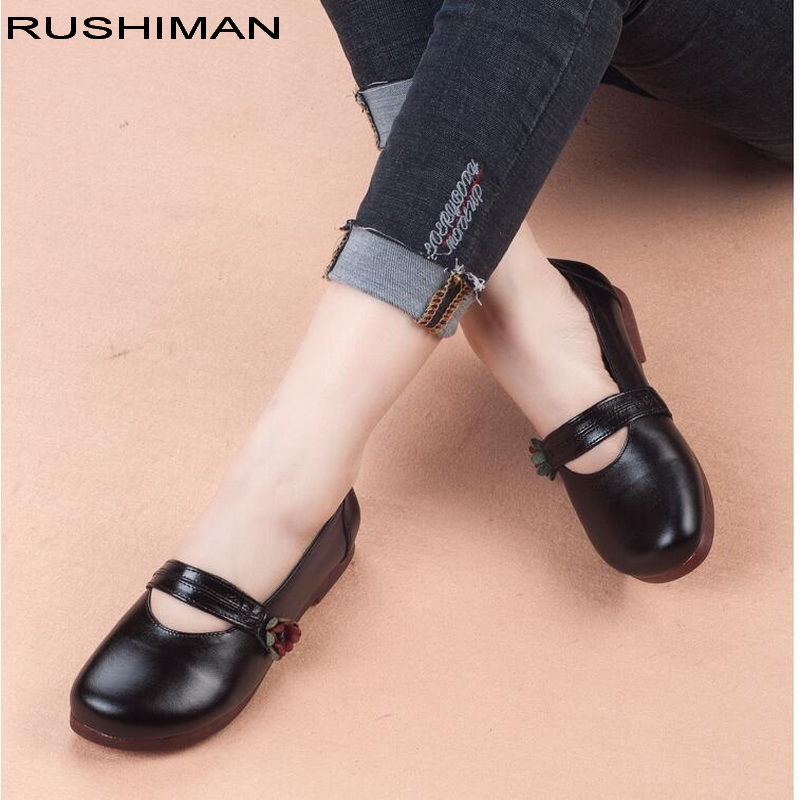 Casual Appartements Rond Mocassins Véritable Noir Mary Ballet Dames Janes jaune pu slip En Cuir Chaussures Non Ciel Bout Rushiman Femmes Caoutchouc xSz6qw44
