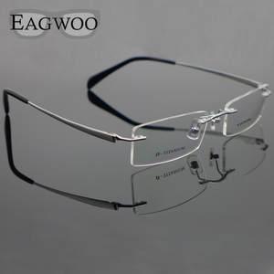 1a6bd9460d3 EAGWOO Pure Titanium Eyeglasses Optical Frame Eye glasses